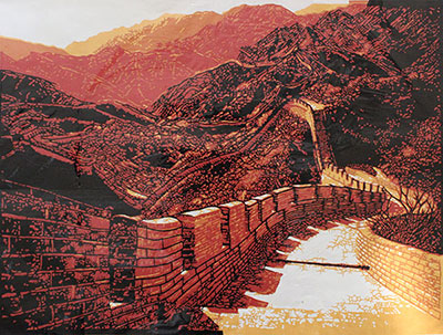 the Great Wall, Chinese Paper Cut Art