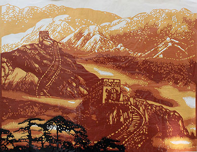 the Great Wall, Chinese Paper Cutting Art