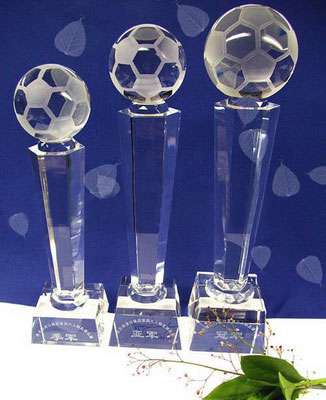 Personalized Engraved Soccer Sports Crystal Award
