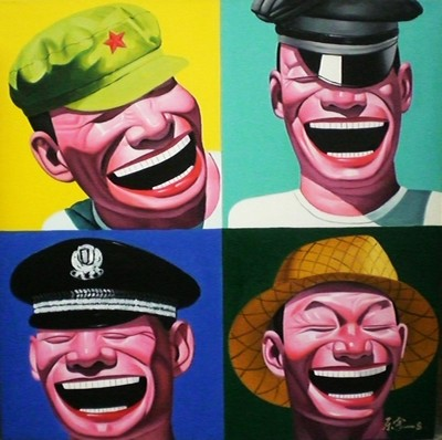 Hand Painted Portrait Oil Painting Chinese Soldiers