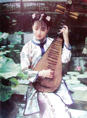 Hand-painted Chinese Beauty Oil Painting Art