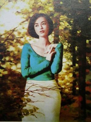Modern Beauty Chinese Oil Painting