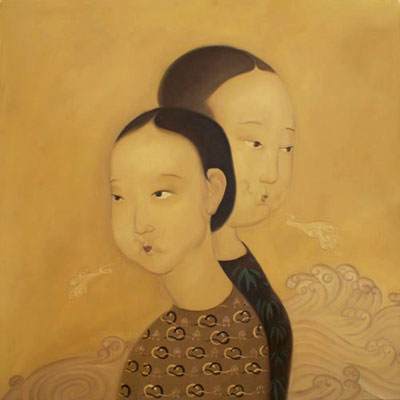 Contemporary Art Modern Chinese Women Oil Painting on Canvas
