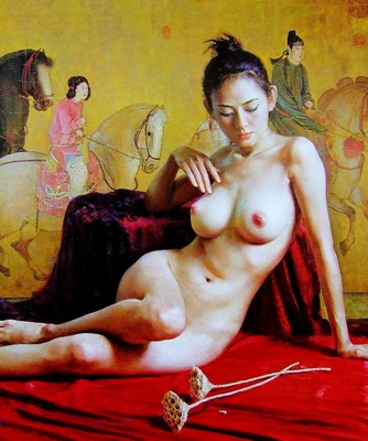 Nude Body Chinese Oil Painting