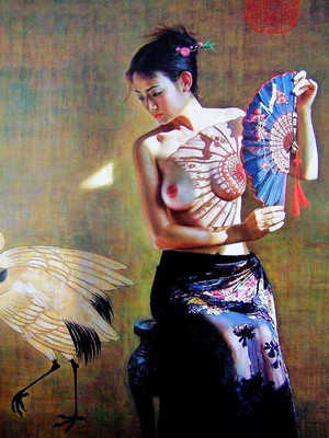Body Nude Chinese Oil Painting