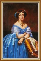 Traditional European Beauty, Woman Oil Painting Art