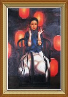 Beauty Lantern Oil Painting