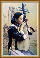 Beauty Music Chinese Oil Painting