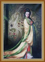 Ancient Chinese Beauty Oil Painting