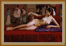 Hand Painted Chinese Nude Art Oil Painting