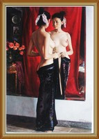 Hand-painted Chinese Nude Body Oil Painting