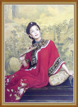 Beautiful Chinese Woman Oil Painting on Canvas