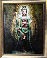 Hand Paint Buddha Oil Painting Art Work