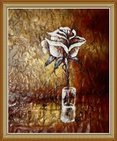 100% Hand Painted Flower Oil Painting Still Life