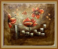 Pure Hand Painted Abstract Oil Painting Flowers Still Life