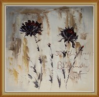 Hand Painted Abstract Flowers Oil Painting