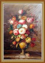 Beautiful Flowers Still Life Oil Painting on Cavans