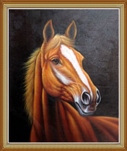 Hand Painted Horse Oil Painting