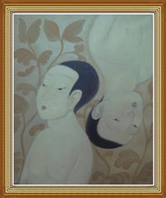 Hand Painted Chinese Modern Oil Painting on Canvas