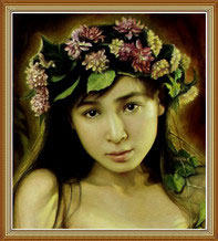 Beautiful Chinese Woman Portrait Oil Painting