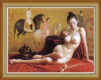 Nude Art Chinese Girl Oil Painting