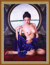 Custom Hand Painted Chinese Nude Art Oil Painting