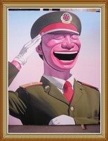 Hand Painted Chinese Oil Painting Big Soldier