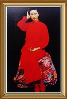 Hand-painted Traditional Chinese Beauty Oil Painting