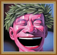 Laughing Man, Hand Painted Chinese Oil Painting