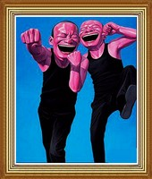 Hand Painted Funny Men, Chinese Oil Painting