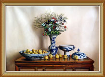 Hand-painted Original Still Life Oil Painting on Cavans