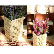 Corn Husk woven Flower Arrangement Containter / Basket
