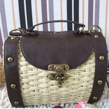 Hand Vintage European Style Braided Woven Bag