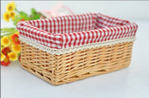 Hand Woven Wicker Storage Utility Basket