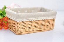 Household Essentials Woven Wicker Storage Utility Basket